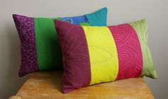 pretty patchwork pillows on etsy