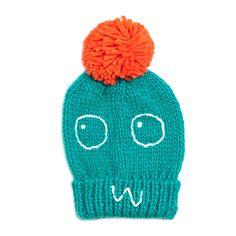 Indikidual Boris Green Hand Knitted Pom Pom Hat