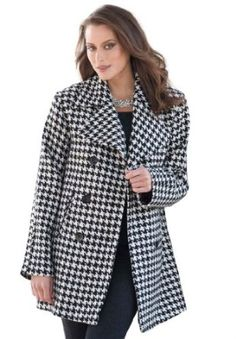 Jessica London : Jessica London Women's Plus Size Classic Wool Pea Coat ~  4.3 out of 5 stars   (3 customer reviews) ~  Price:$180.67 - $182.20