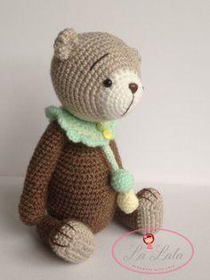 Harry OOAK Artist Crochet Teddy Bear by LaLalaArte on Etsy