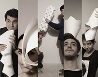 5 Paper lamps on Behance
