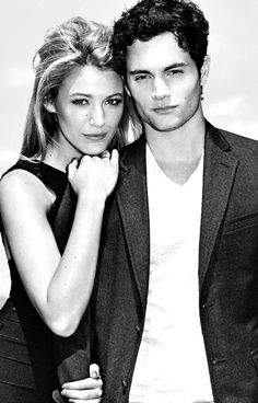 Serena van der woodsen & Dan Humphrey aka. Blake lively and Penn badgley  On and ex off screen couple
