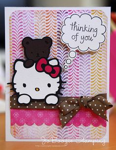 Image detail for -, black (Bazzill); DP: SU!; Cricut Cartridge: Hello Kitty Greetings ...