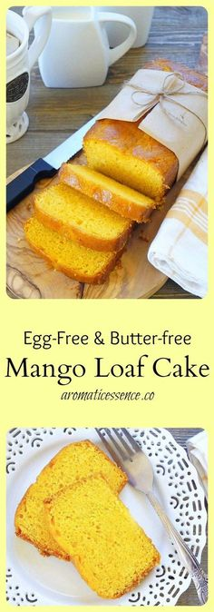Egg-free Mango loaf cake - Aromatic Essence