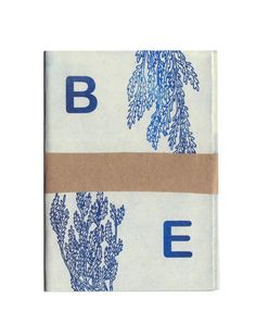 Sarah McNeil: Bye   Blue/purple risograph on sand coloured paper. Hand Numbered, A7 (folds out to A4). Hand-numbered, 7cm x 9 cm March 2014
