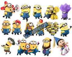 INSTANT DOWNLOAD Despicable Me Minions Printable Birthday Party for Decorations: Centerpiece, Banner, Wall Decor & Iron On Transfer Tshirt
