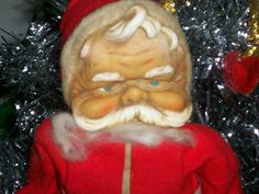 Vintage Stuffed Santa Claus by thetrendykitchen on Etsy, $39.95