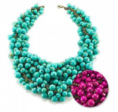 Decked Out Cluster Bib Necklace in Turquoise by Avon mark  USD  $30.24 (sold out)