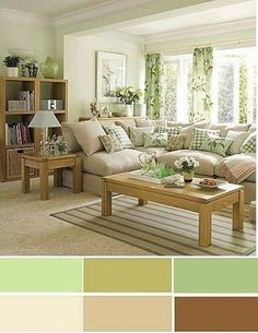 The best color combinations for your living room is one that fits the atmosphere you want to create. Find a fresh look with these living room color schemes. Living Room Color Combination, Living Room Color Schemes, Paint Colors For Living Room, Bedroom Colors, Living Room Designs, Paint Colors For Home, Living Room Green, Home Living Room, Living Room Decor
