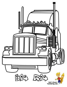 semi truck drawings