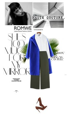 """""""Romwe"""" by flavia-hajna ❤ liked on Polyvore featuring Rika, Cameo, White House Black Market, women's clothing, women's fashion, women, female, woman, misses and juniors"""