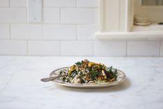 Roasted Vegetable Orzo Recipe - 101 Cookbooks Best Pasta Recipes, Kale Recipes, Great Recipes, Whole Food Recipes, Vegetarian Recipes, Healthy Recipes, Favorite Recipes, Vegetarian Dinners, Healthy Meals
