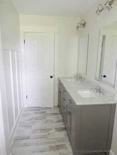 Pics Of Classic Gray and White Bathroom