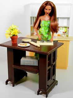 """doll kitchen island how to"" - The link is gone, but I think I can recreate this....There is a video for this and the pin is in here too...."