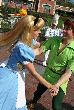 Everyone wants a dance with miss Alice, even Peter Pan!