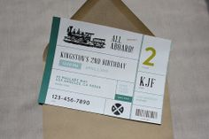 Vintage Train Birthday Party  Custom Party by PaperCowDesign, $14.99