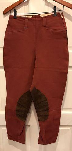 Vtg Equi-Stretch Prestige Brown Pant Size 27 No-flare Equestrian Riding Breeches  | eBay