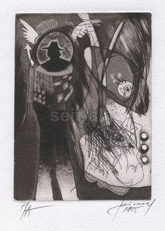 Luis Seiwald - Ohne Titel - Radierung - 1994