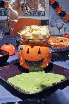 #Recetas para #Halloween: vómito verde #calabaza #guacamole