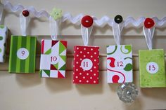 Christmas Advent Calendar Garland by MerryMatchboxes on Etsy