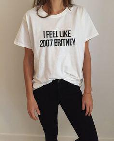 Je me sens comme 2007 Britney Tshirt Fashion drôle par Nallashop
