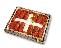 1.-August-Wähe - Rezeptdatenbank - Swissmilk Swiss National Day, Swiss Days, Swiss Recipes, Bruschetta, Watermelon, Waffles, Fruit, Vegetables, Breakfast