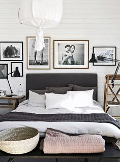 Modern Bedroom Gray home in sand and grey - via cocolapinedesign | bedroom