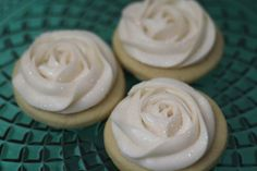 White Winter Rose Sugar Cookies with Buttercream by SweetOnHearts, $20.00
