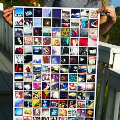 """Instagram Poster: A large, high-quality photo print made with the Instagram photos you choose. It's 20"""" x 40"""" in size (50cm x 100cm), and can accommodate anywhere between 50-400 photos. We'll size them to fit the full poster size & arrange them in a nice clean grid. $25 #instagram"""