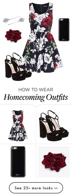 """Homecoming Idea"" by sassymint on Polyvore featuring Miu Miu, Dolce&Gabbana, 1928, Gooey, dresses and Homecoming"