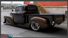 194-1953 Chevy 3100 two-toned truck.