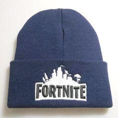 fa0aa7db1de Unisex Winter Warm Fortnite Knitted Beanie Hip-hop Hat Cap Blue  fortnite   fortnitebattleroyale