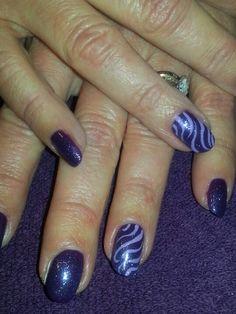 Shellac nail art By- Kim Yee