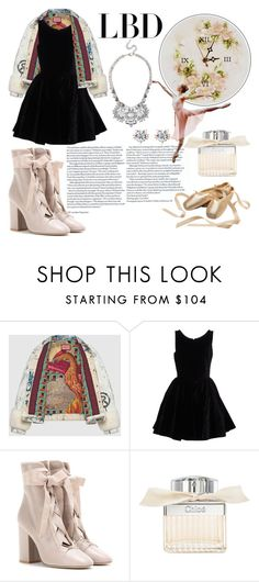 """B A L L E R I N A"" by color-dli on Polyvore featuring мода, Alexander McQueen, Gucci, Alaïa, Valentino и Chloé"