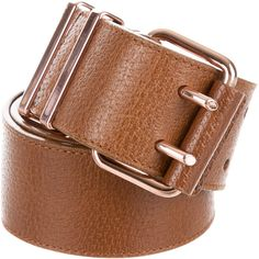 Pre-owned Balenciaga Leather Waist Belt ($85) ❤ liked on Polyvore featuring accessories, belts, brown, brown leather belt, genuine leather belt, balenciaga, brown waist belt and brown belt