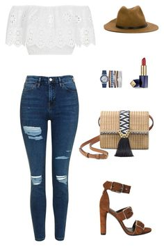 """A Trip to the Store"" by madpet21 ❤ liked on Polyvore featuring Alexander Wang, Miguelina, Topshop, Stella & Dot, Jessica Carlyle, Estée Lauder and Diesel"