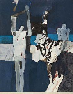 Keith Vaughan - Les Illuminations de Rimbaud, 1975 (Being Beauteous). Gouache on Paper. 53 x 42 cm Figure Painting, Painting & Drawing, Les Illuminations, Bay Area Figurative Movement, Modern Art, Contemporary Art, Glasgow School Of Art, Inspiration Art, Portraits