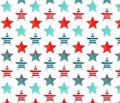 Hero stars white fabric by cjldesigns on Spoonflower - custom fabric