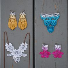 Learn how to make these with this ombre lace jewelry DIY! Perfect for a bridesmaid gift or for a treat for yourself!