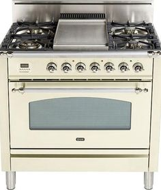 "Ilve Nostalgie 36"" Gas Range - UPN90  Visit www.hreappliances.com for more details or call us at 267.483.5337 for a custom quote!"
