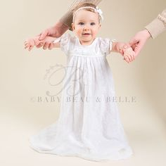 Louisa White Christening Gown (Girl) | Cotton Baptism Outfits & Dresses - Adorable Gowns & Dresses