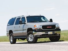 Check out the Dura-Kon, the SUV General Motors should have built. See this custom built 2003 GMC Yukon 2500 XL powered by a LBZ Duramax in this month& issue of Diesel Power Magazine! Gmc Trucks, Lifted Chevy Trucks, Cool Trucks, Pickup Trucks, Chevrolet Suburban, 2000 Gmc Yukon, Gmc Suv, Cadillac Escalade, Classic Trucks