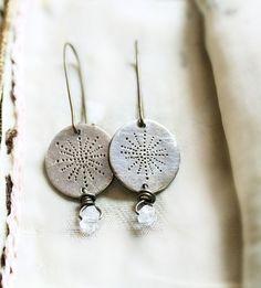 Dreamcatcher Crystal Silver Drop Earrings