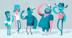 Character Design by Chloe Batchelor, via Behance