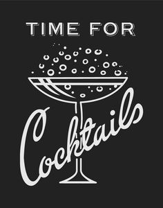What time is it? Time for cocktails! Whatever time it is, treat yourself to a cocktail and this magnet. Vintage Cocktails, Cocktail Drinks, Vintage Bar, Poster Vintage, Bar Art, Mid Century Modern Art, 1950s, Retro Illustration, Illustrations