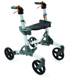 Volaris All-Terrain SMART Fitness Rollator Walker with Four Wheels and Seat, Folding, Lightweight, Aluminum