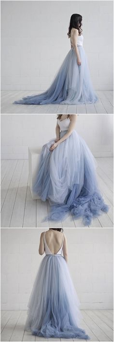 ideas skirt tulle wedding bridal gowns for 2019 Tulle Skirt Wedding Dress, Blue Tulle Skirt, Bridal Skirts, Boho Wedding Dress, Bridal Gowns, White Tulle, Blue Wedding Gowns, Blue Bridal, New Wedding Dresses