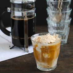 Double Coffee Affogato - A classic, elegant Italian dessert and coffee all in one. Cold and creamy coffee ice cream topped coffee.