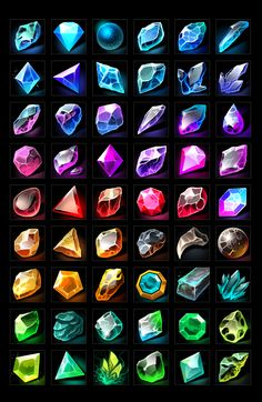 Buy RPG Gems Icons by a-ravlik on GraphicRiver. The set includes 100 gems icons . There are transparent PNG. Digital Painting Tutorials, Digital Art Tutorial, Art Tutorials, Concept Art Tutorial, Digital Paintings, Drawing Tutorials, Art Sketches, Art Drawings, Crystal Drawing