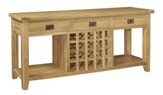 You can add a touch of style to any part of the home with this gorgeous French Farmhouse Style Console Table. Incredibly elegant and stylish, it features storage for twenty bottles of your most cherished wine; there's no need to store them in the garage or cupboard any more, they'll mature nicely in this wonderful piece. £387